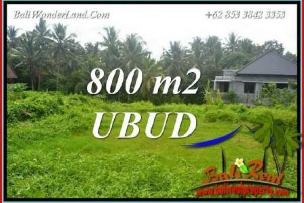 Tanah Murah Dijual di Ubud Bali 800 m2 di Sentral Ubud