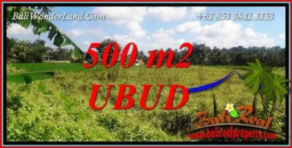 Tanah Murah di Ubud Bali jual 500 m2 View Sawah lingk. Villa