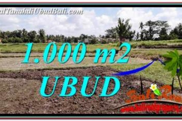 INVESTASI PROPERTI, DIJUAL MURAH TANAH di UBUD TJUB765