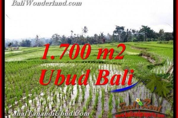 JUAL TANAH di UBUD BALI 1,700 m2  VIEW SAWAH LINK VILLA