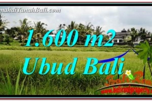 TANAH MURAH DIJUAL di UBUD 1,600 m2 di Ubud Tampak Siring