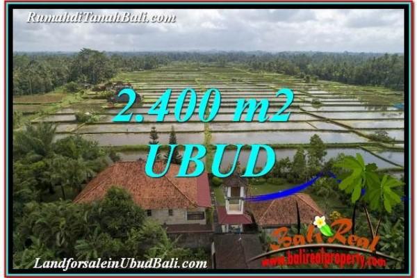 TANAH MURAH JUAL di UBUD BALI 2,400 m2  View Sawah link Villa