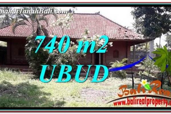 TANAH MURAH  di UBUD BALI DIJUAL 740 m2  View Sawah