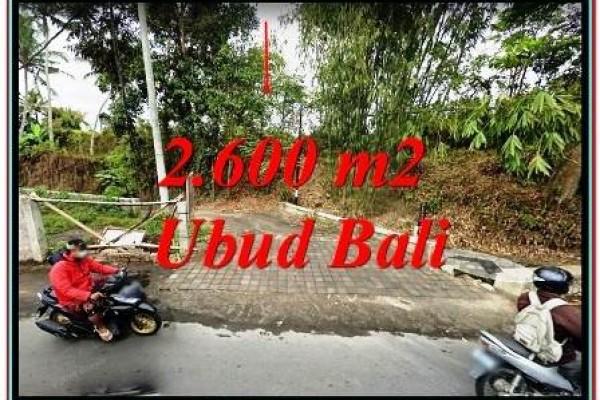 TANAH Murah di sentral UBUD BALI cocok utk Villa TJUB780