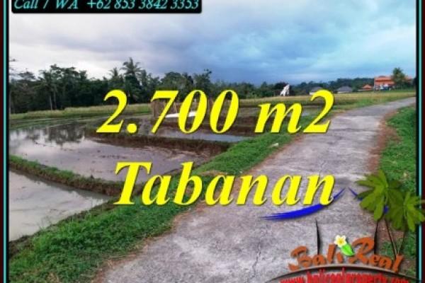 JUAL TANAH DI TABANAN 27 Are VIEW SAWAH DAN LAUT