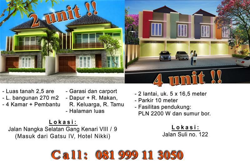 Dijual Ruko di Denpasar, Bali. Murah lokasi strategis - Jln suli - KJ1008B