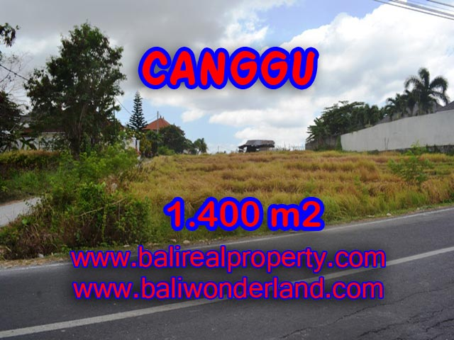 Tanah di Canggu dijual 14 Are View sawah di Batu Bolong