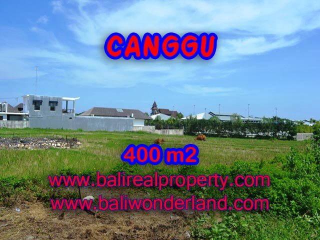 Tanah di Canggu Bali dijual 400 m2 view sawah di Canggu Brawa