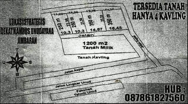 Dijual Tanah Kavling di Jimbaran Bali, Lokasi Bagus – T1074