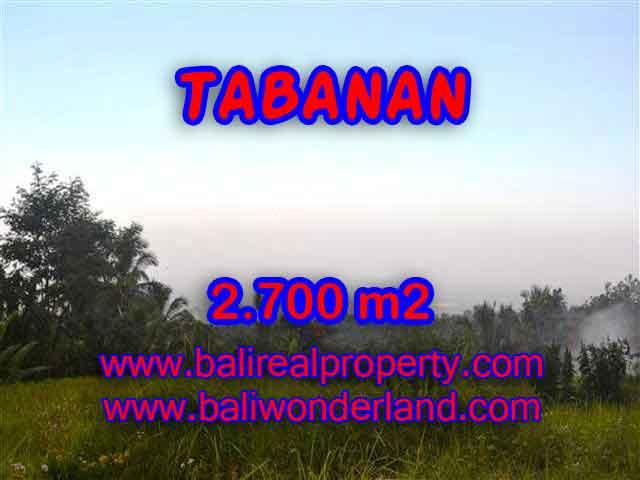 INVESTASI PROPERTI DI BALI - TANAH DIJUAL DI TABANAN CUMA RP 370.000 / M2