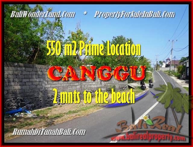 JUAL TANAH di CANGGU BALI 5,5 Are di Canggu Batu Bolong