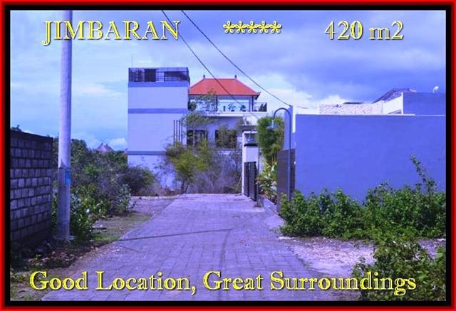 JUAL MURAH TANAH di JIMBARAN 420 m2  Lingkungan villa dan Hotel