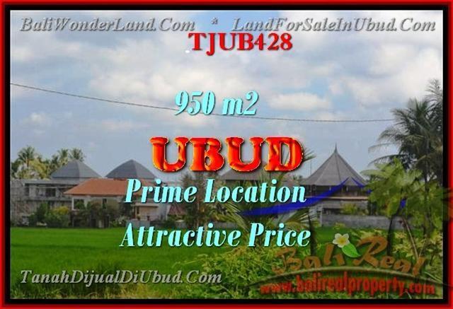 JUAL MURAH TANAH di UBUD BALI 950 m2 di Sentral Ubud