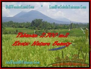 JUAL TANAH di TABANAN BALI 2.700 m2  Sawah, Gunung, Sungai dan Kota Denpasar