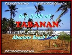 JUAL TANAH MURAH di TABANAN BALI 3.000 m2  View gunung laut dan sawah