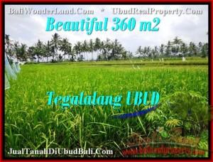 TANAH JUAL MURAH  UBUD BALI 360 m2  View sawah link villa