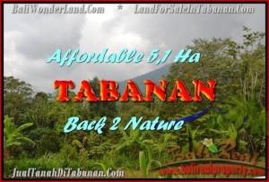 TANAH JUAL MURAH  TABANAN 51,100 m2  View gunung dan laut singaraja