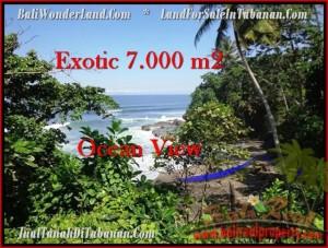 TANAH MURAH di TABANAN BALI 7,000 m2 View Laut dan Kebun