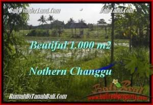 TANAH MURAH  di CANGGU BALI DIJUAL 1,000 m2  View laut dan sawah link villa