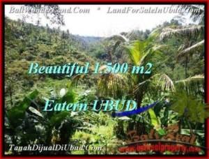 JUAL TANAH di UBUD BALI 1,500 m2  View Tebing dan sungai besar