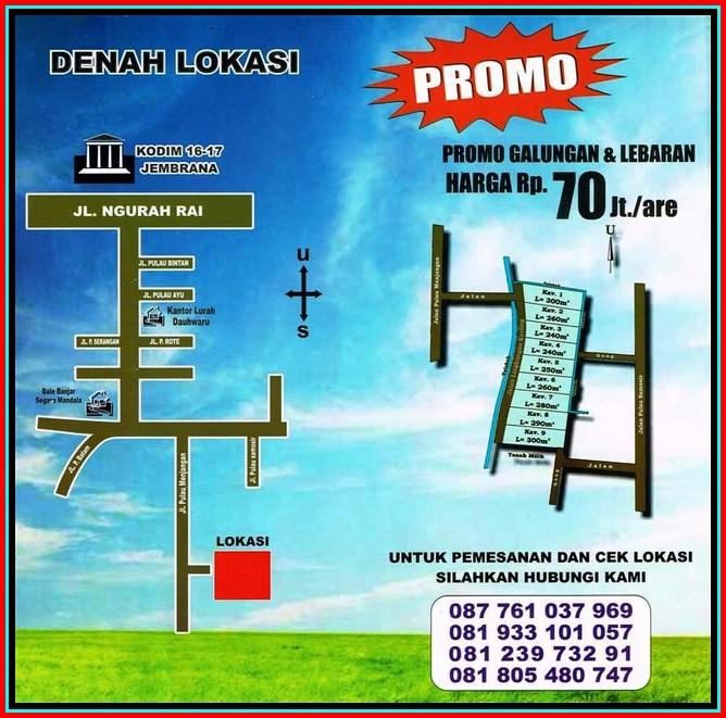 Dijual Tanah Kavling Strategis di Kota Negara Jembrana Bali