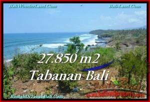 JUAL TANAH di TABANAN 27,850 m2 Los Pantai, View Gunung