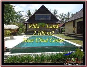 TANAH MURAH JUAL di UBUD BALI 2,190 m2  View sawah, kebun, link Villa