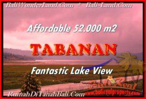 JUAL TANAH MURAH di TABANAN 52,000 m2 View gunung dan danau Buyan