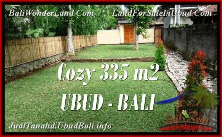 TANAH di UBUD BALI DIJUAL MURAH 335 m2  View kebun
