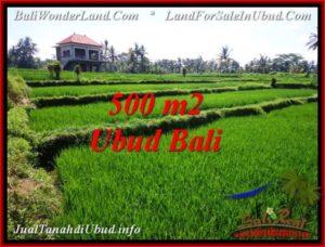 TANAH MURAH JUAL di UBUD BALI 500 m2 View Sawah, link. villa