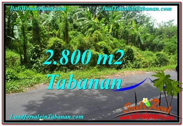 JUAL TANAH MURAH di TABANAN BALI 2,800 m2  View kebun