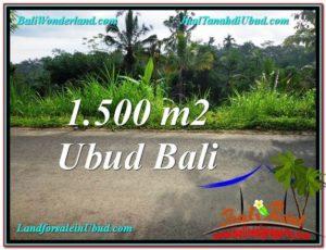 JUAL TANAH MURAH di UBUD 1,500 m2 View Kebun dan Tebing