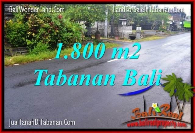 TANAH DIJUAL MURAH di TABANAN 1,800 m2 di Tabanan Kota