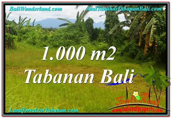 TANAH JUAL MURAH  TABANAN BALI 1,000 m2  View Laut, Gunung dan sawah