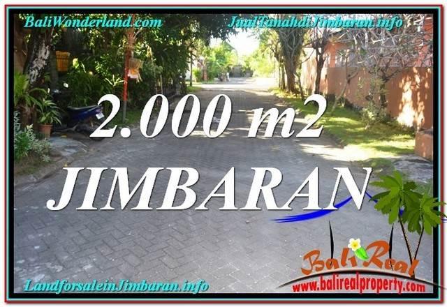 TANAH MURAH  di JIMBARAN BALI DIJUAL 2,000 m2  Lingkungan perumahan Elite