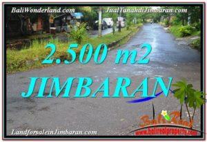 JUAL TANAH MURAH di JIMBARAN 2,500 m2 Lingkungan Villa