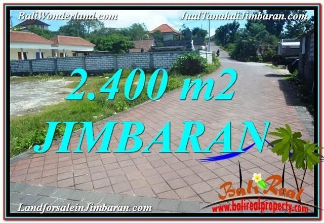 JUAL MURAH TANAH di JIMBARAN BALI 2,400 m2  Lingkungan Villa