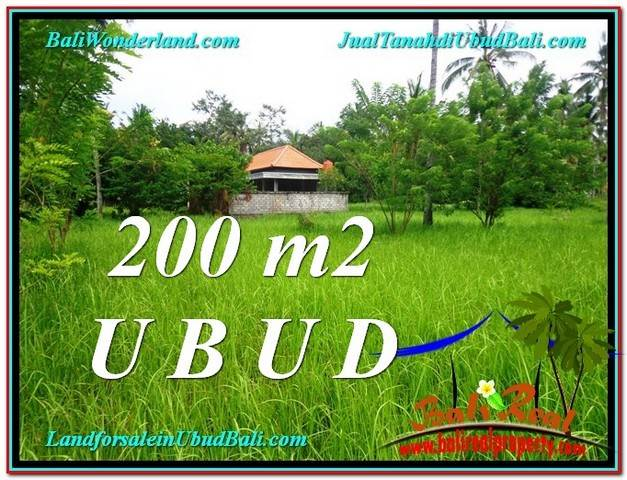 TANAH DIJUAL MURAH di UBUD BALI 200 m2 di Sentral Ubud