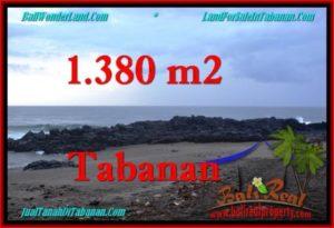 TANAH di TABANAN JUAL MURAH 1,380 m2 View Laut dan Kebun