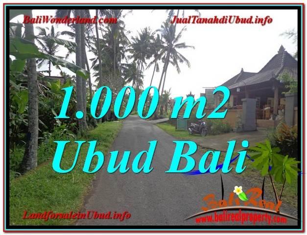 JUAL MURAH TANAH di UBUD 1,000 m2  View kebun lingkungan Villa