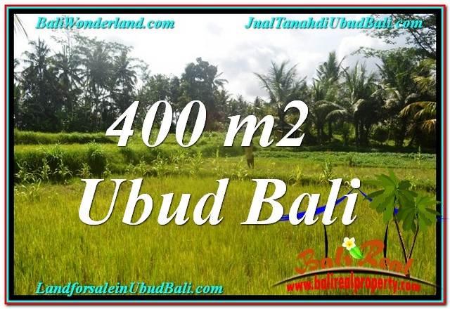 TANAH di UBUD JUAL MURAH 400 m2  View Sawah