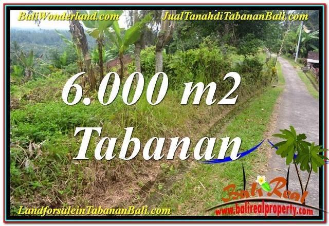 TANAH DIJUAL di TABANAN 6,000 m2  View Laut dan sawah