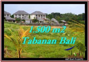 TANAH di TABANAN JUAL MURAH 1,500 m2 View sawah, laut dan gunung