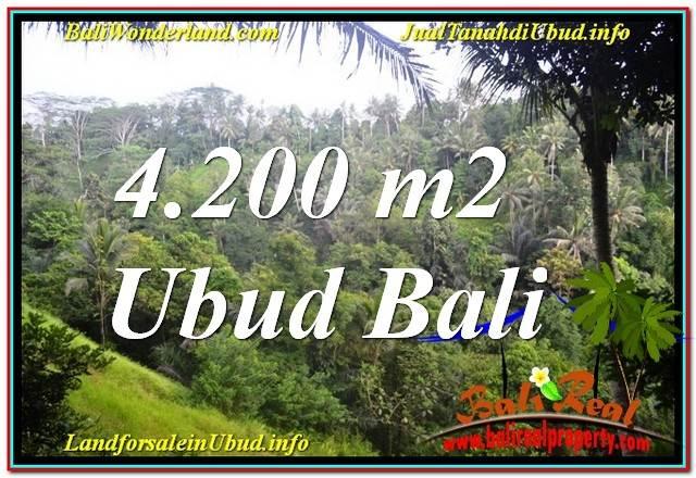 TANAH JUAL MURAH  UBUD BALI 42 Are View Tebing dan Sungai, Link. Villa