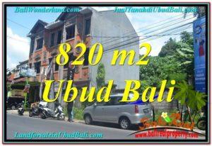TANAH MURAH DIJUAL di UBUD BALI 820 m2 di Sentral / Ubud Center