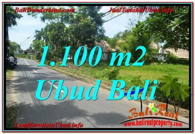 TANAH di UBUD BALI DIJUAL MURAH 11 Are View Sawah, Sungai Kecil, Link. Villa