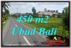 TANAH MURAH JUAL UBUD 450 m2 View Sawah, Llink. Villa