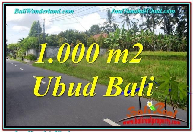 TANAH DIJUAL MURAH DI UBUD BALI 1,000 m2  View Sawah dan Sungai Kecil, Link. Villa