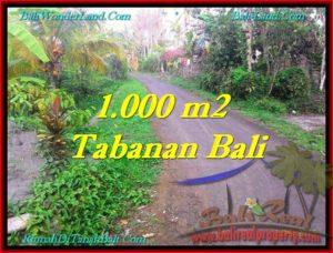 JUAL TANAH MURAH di TABANAN 1,000 m2 View Kebun