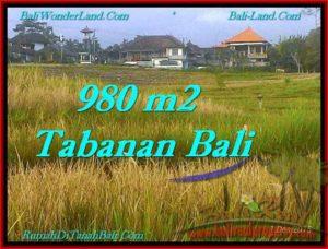TANAH di TABANAN JUAL MURAH 9.8 Are View Sawah dan Laut